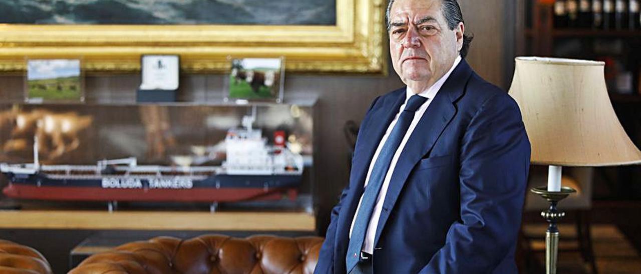 Vicente Boluda, en la sede de la corporación marítima. | M. A. MONTESINOS