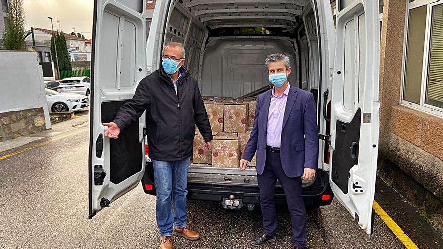 Una empresa dona 60 cestas de Navidad al Concello de Nigrán