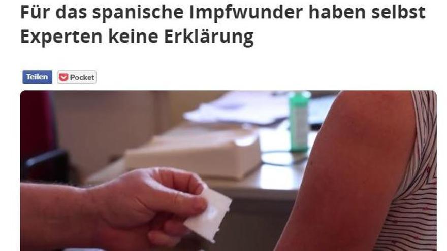 Captura de pantalla de la información en el medio alemán 'Focus'
