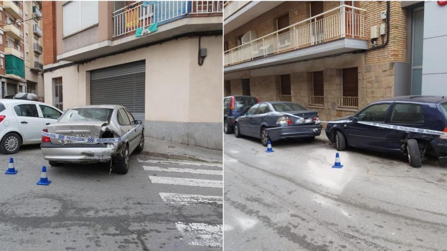 Una conductora beguda s'estampa contra tres cotxes aparcats a Manresa