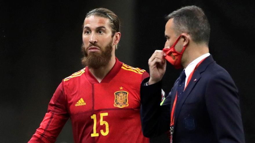 Sergio Ramos, la gran ausencia del entrenamiento del Real Madrid