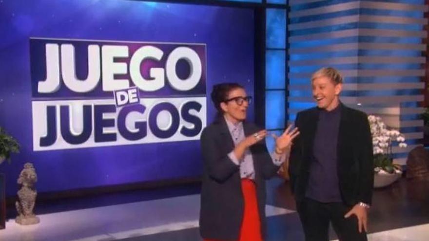Silvia Abril 'se cuela' en el programa de Ellen DeGeneres en Estados Unidos