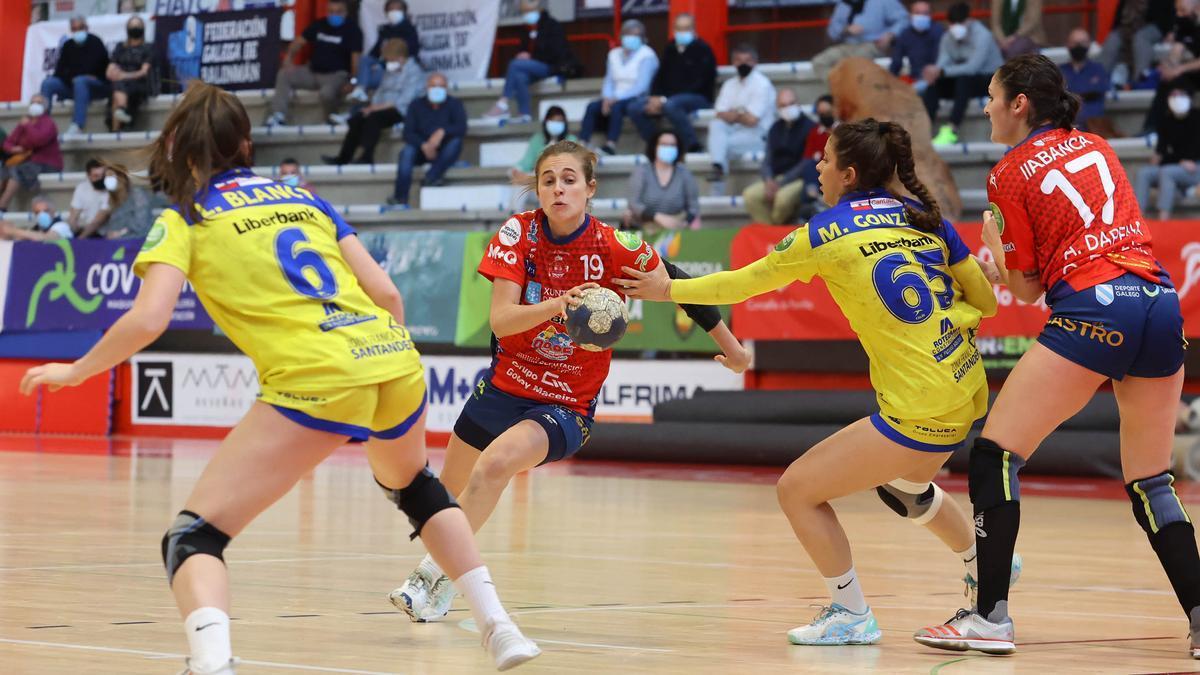 Anthia Espiñeira, durante un partido de esta temporada.
