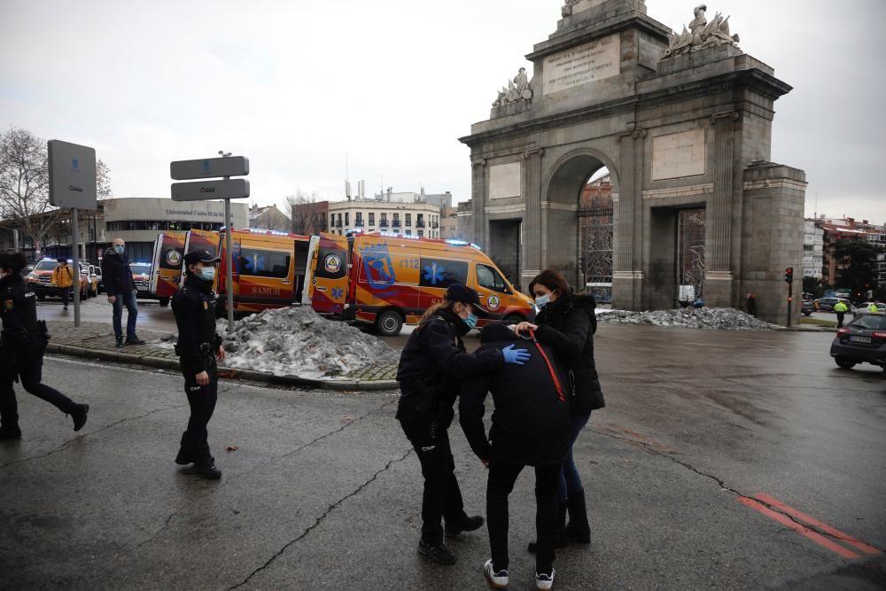 Varios muertos en una gran explosión en Madrid