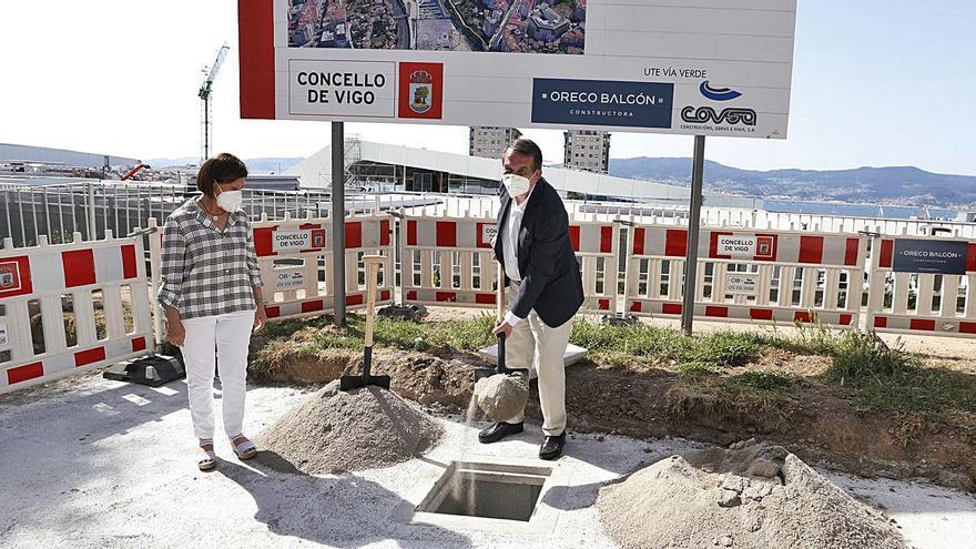 """La segunda fase de la Vía Verde ya tiene su """"primera piedra"""""""
