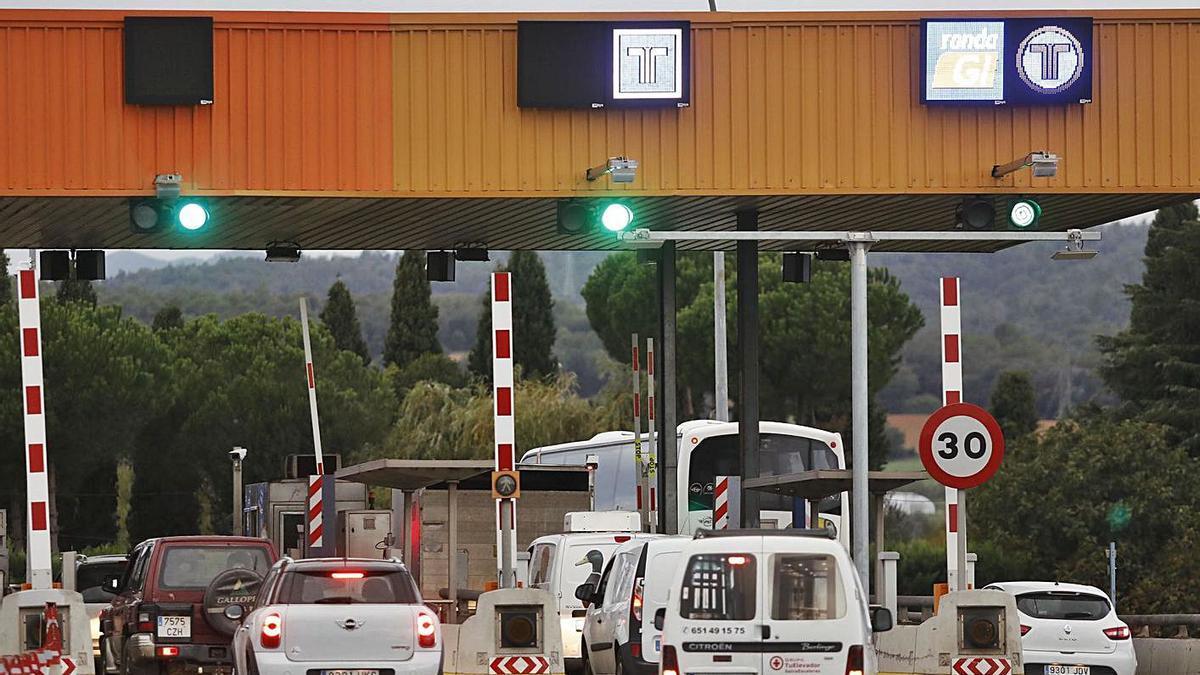 Un dels peatges de l'AP-7, que desapareixeran el 31 d'agost, a les comarques gironines
