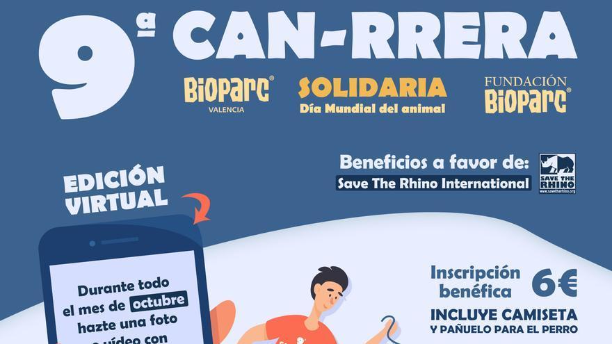 Cuenta atrás para participar en la  9ª Can-rrera de BIOPARC Valencia