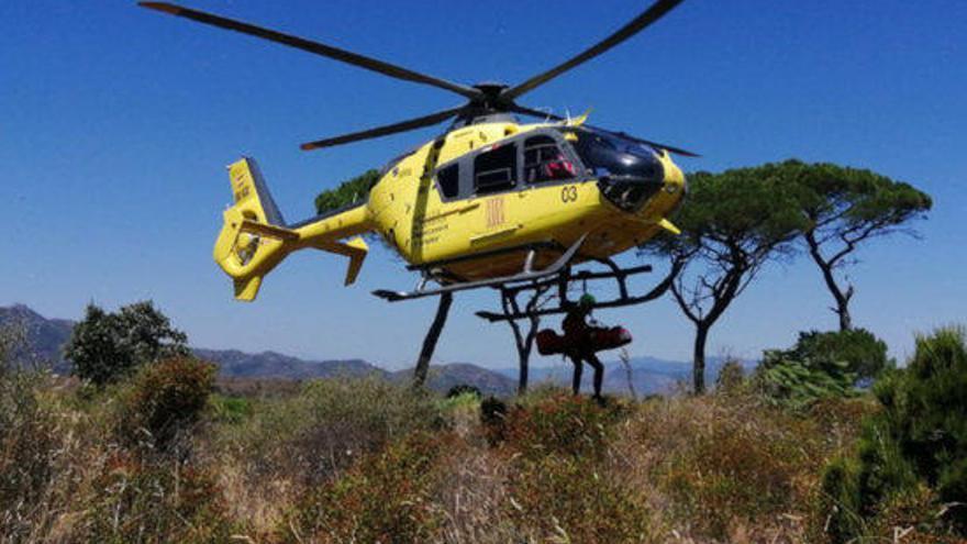 Els Bombers han treballat en dotze rescats d'excursionistes ferits lleus o desorientats