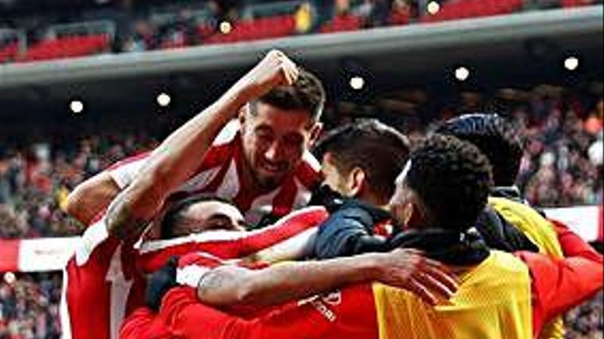 Morata y Koke dan la victoria al Atlético, que tuvo que remontar