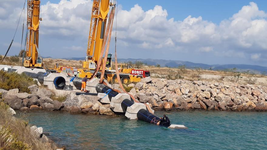 Castelló ultima una espectacular obra para reparar los daños del temporal 'Filomena'