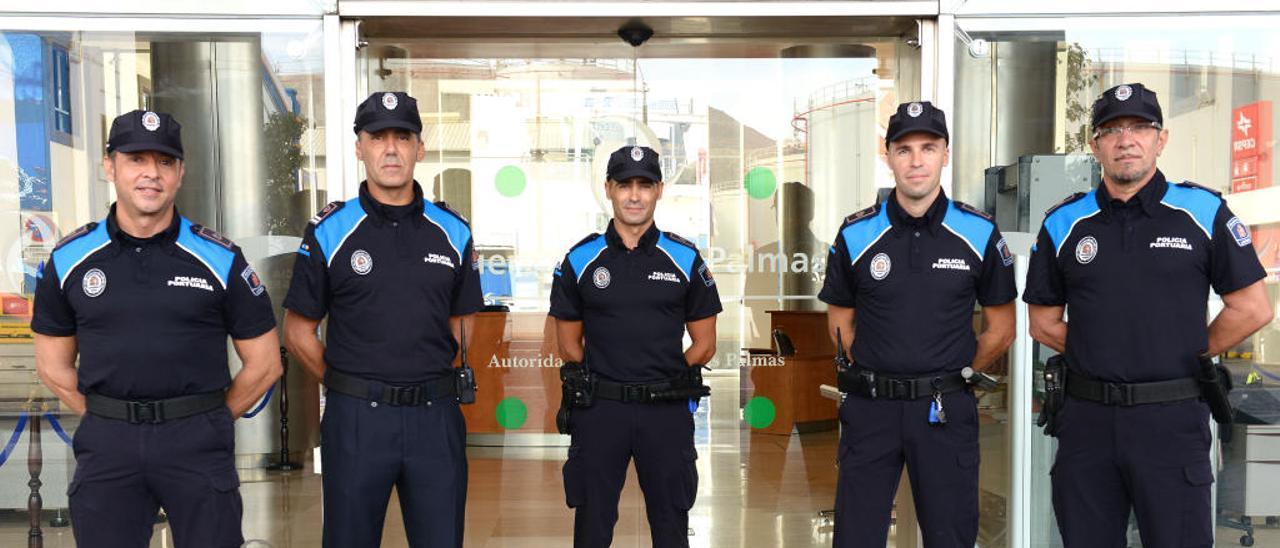 Nuevos uniformes para la Policía Portuaria de Las Palmas.