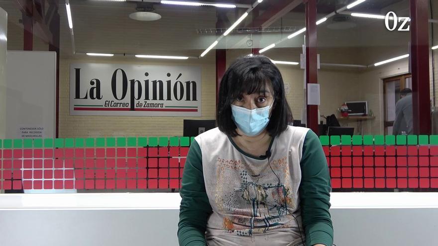 La enfermera zamorana Montserrat Juan lee para LA OPINIÓN-EL CORREO su carta viral de denuncia