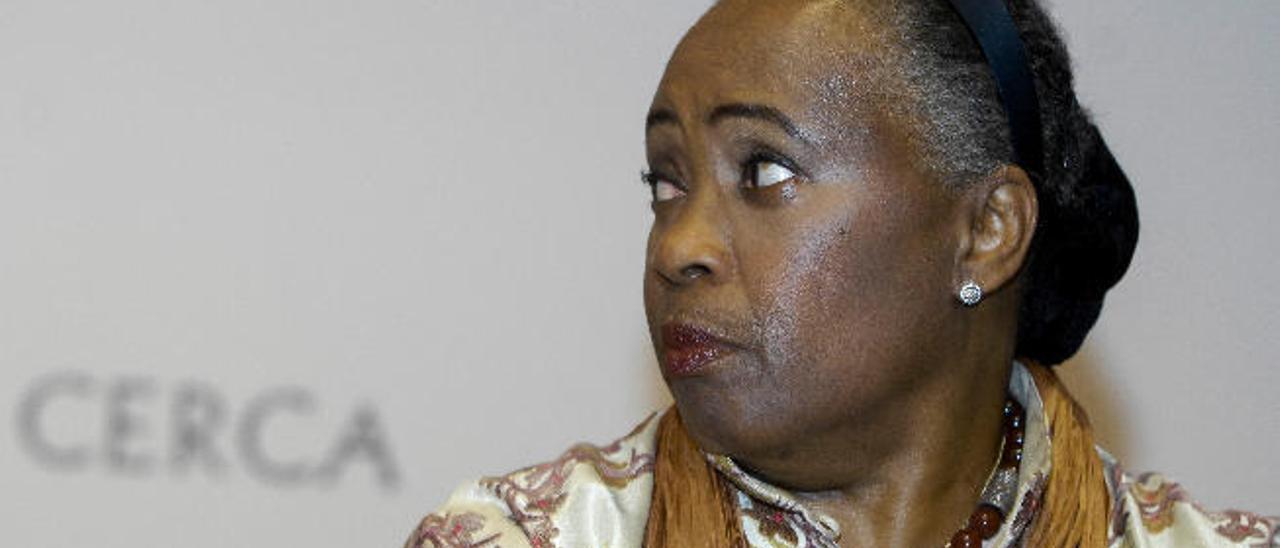 La soprano y activista en defensa de los derechos humanos, Barbara Hendricks, ayer en Casa África.