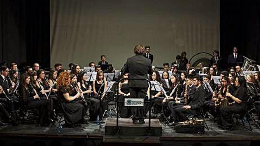 La Banda de Música de Zamora, con Santa Cecilia
