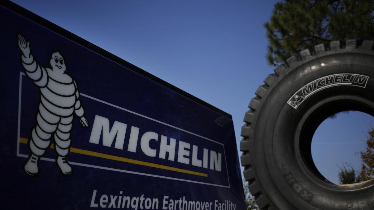 Una imagen del logo de la compañía Michelín