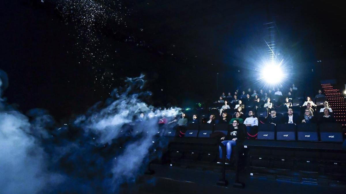 Una imagen de archivo de una sala de cine.