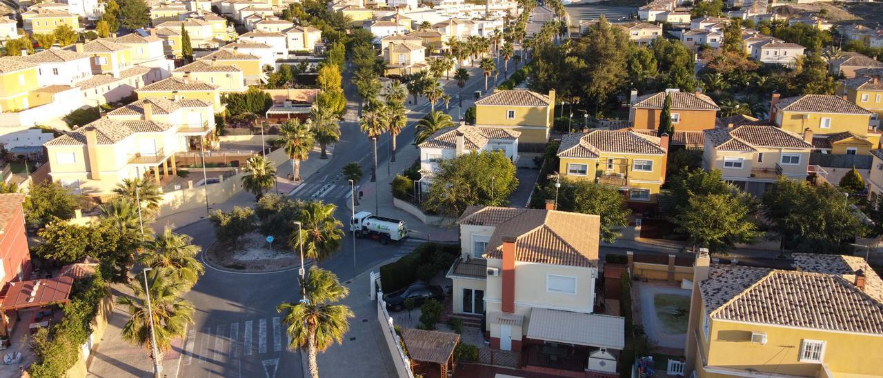 Imagen aérea de la urbanización Santa Elena de Aspe.