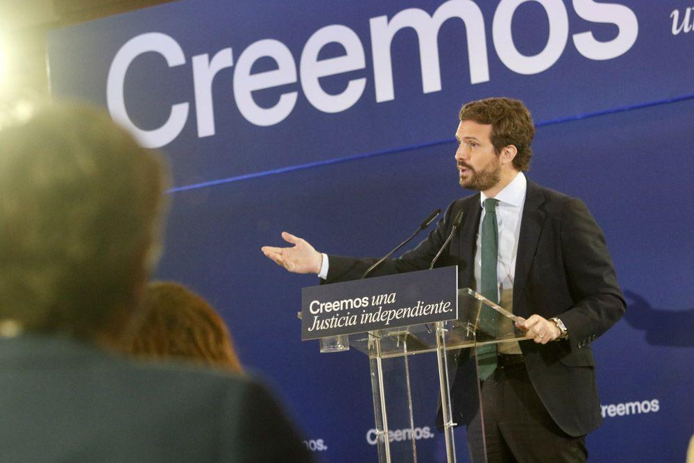 Pablo Casado inaugura unas jornadas sobre justicia en Córdoba
