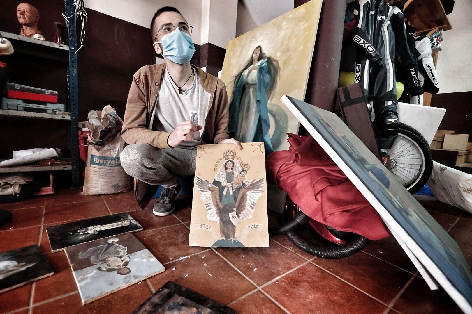 Alejandro Hernández, joven imaginero y escultor