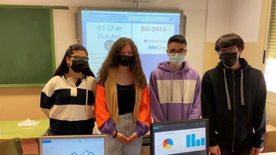 El IES 12 de Outubro, en la final del reto Big Data