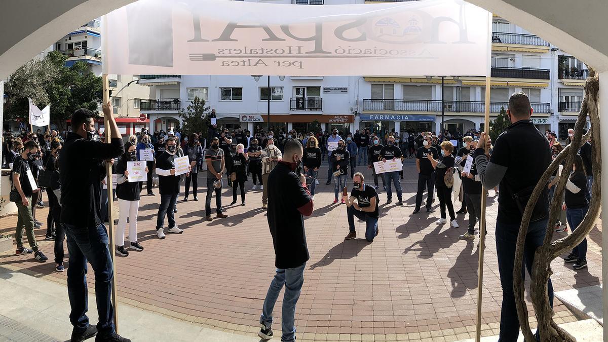 Protesta de los hosteleros