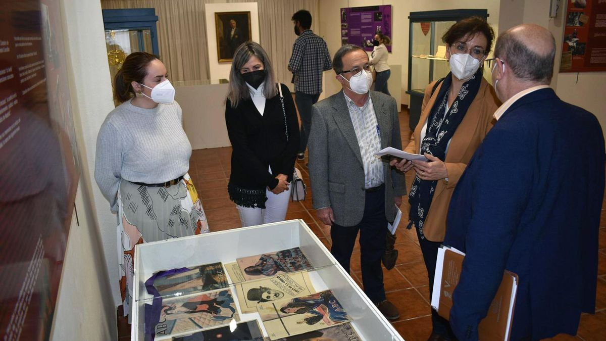 Inauguración de la exposición, este miércoles en la casa-museo Alcalá-Zamora de Priego.