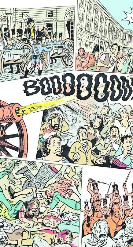 Viñetas del cómic 'El 2 de mayo'.
