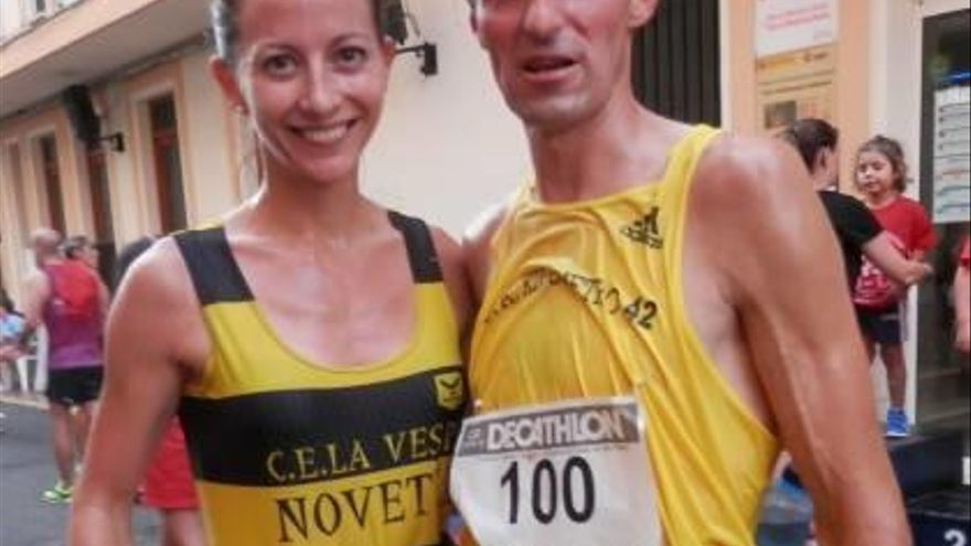 Andrés Micó y Silvia Sarrión ganan las carreras populares de Navarrés y Jalance