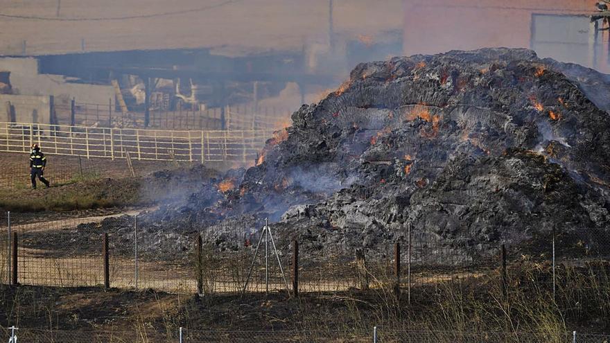 """Un incendio en la carretera de La Hiniesta: """"el fuego se nos venía encima"""""""