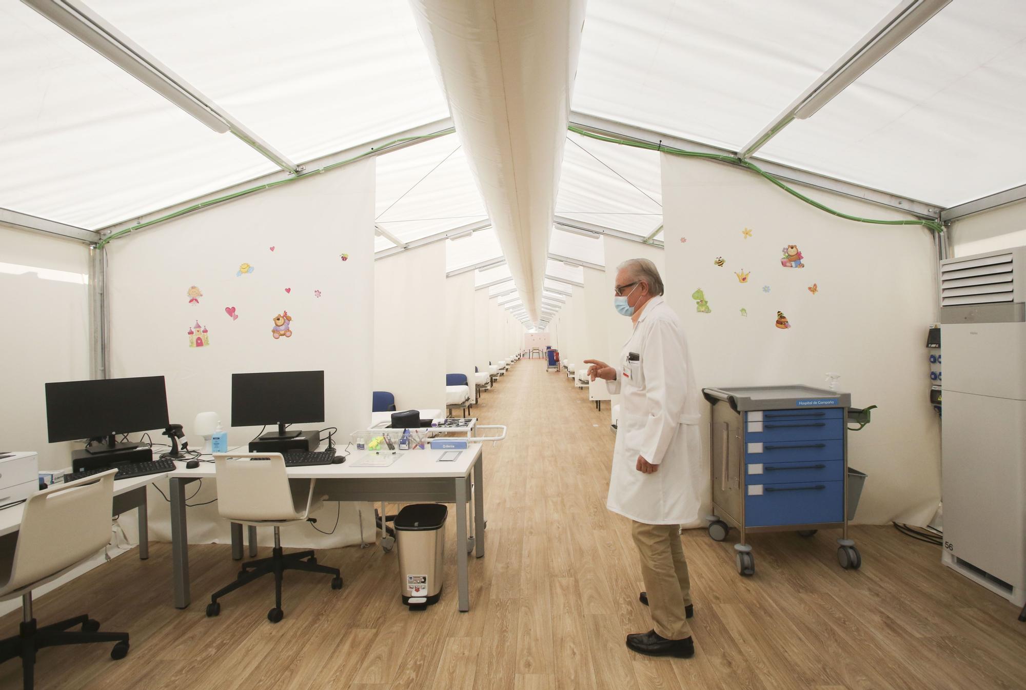 Sanidad prepara 80 camas del hospital de campaña para su apertura inminente