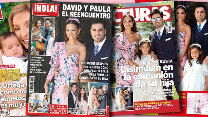 Paula Echevarría y David Bustamante, un posado juntos rentable en el quiosco