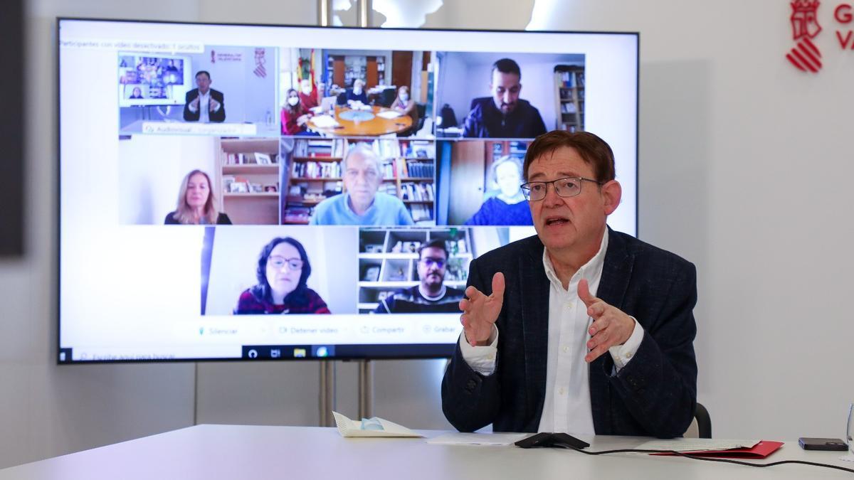 El president de la Generalitat se ha reunido con Oltra, Barceló y Marzà