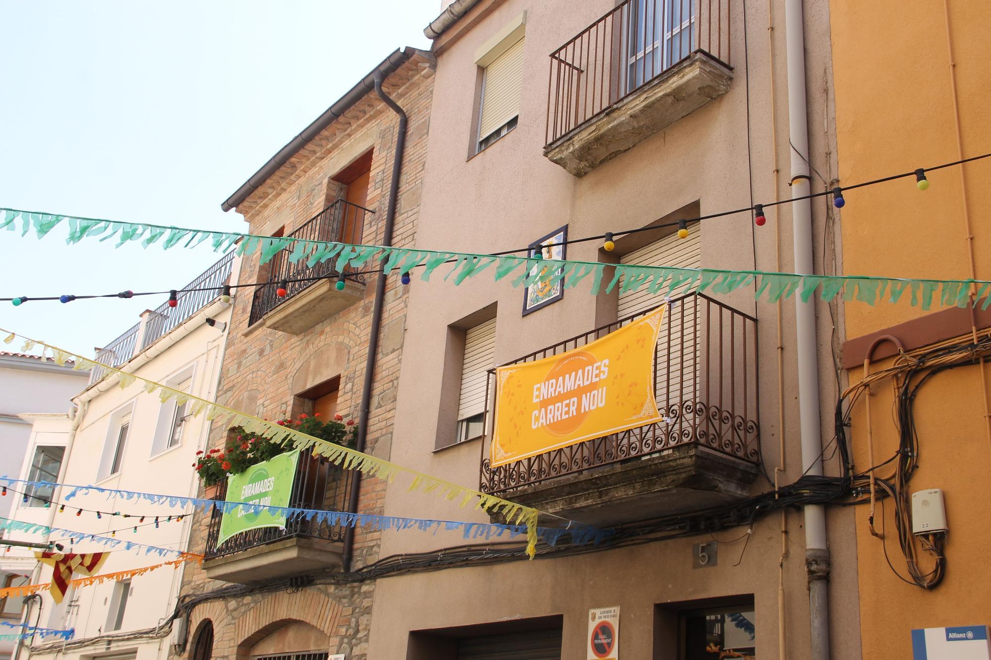 Les Enramades tornen al carrer Nou de Sant Fruitós de Bages