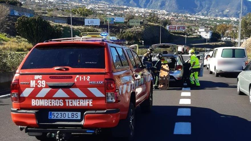 Accidente de tráfico múltiple en La Orotava
