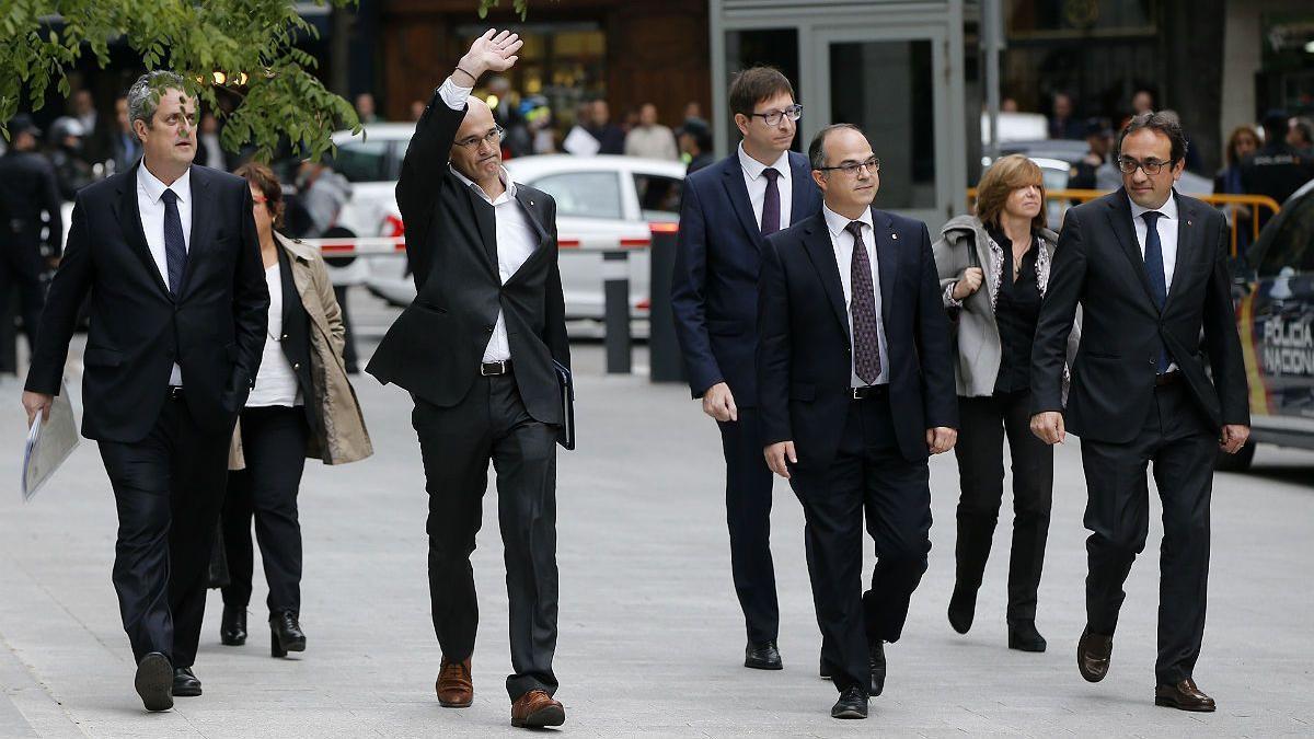 Los exconsellers y los Jordis pedirán volver a declarar para quedar en libertad.
