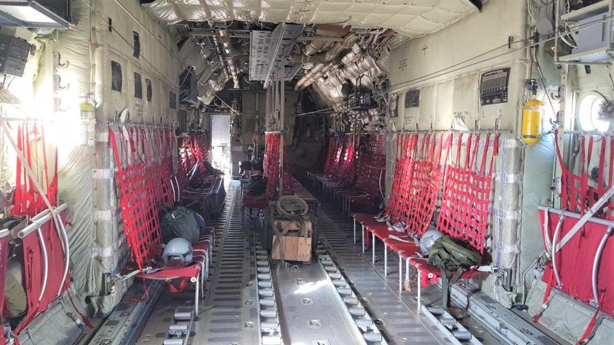 interior del C 130-J del Ej�rcito del Aire de Italia 1.jpg