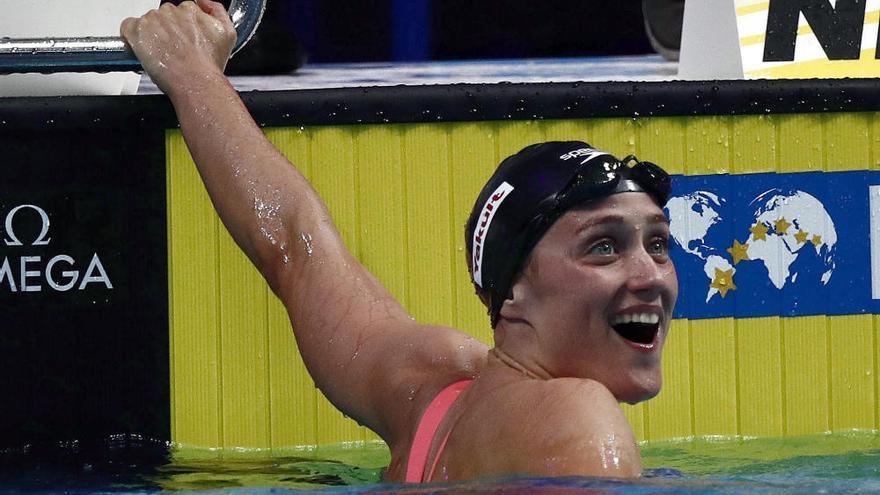 Mireia Belmonte, medalla de plata en los 1.500 libres