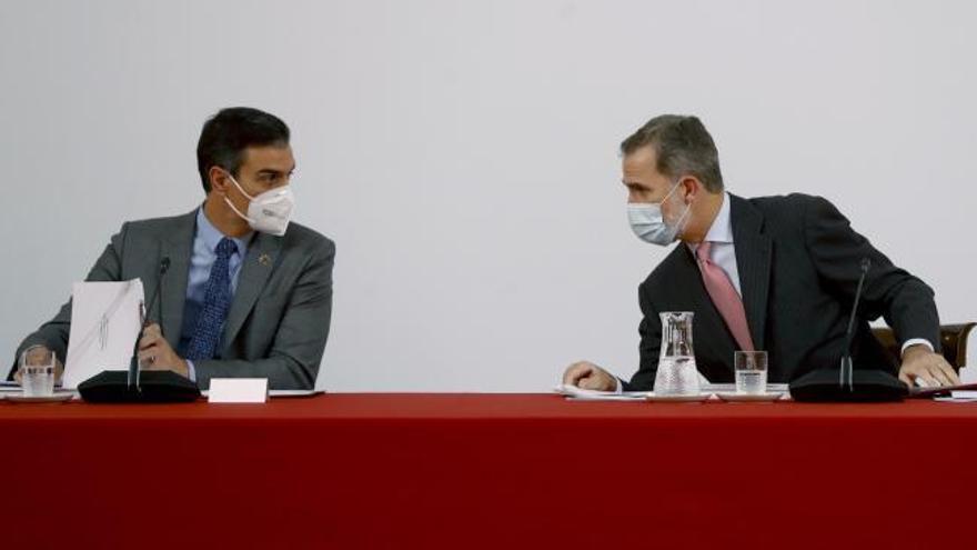 Felipe VI reaparece tras diez días en cuarentena por haber mantenido contacto directo con un positivo en Covid-19