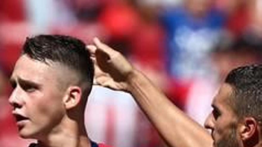 Borja Garcés, del planter, salva l'Atlètic de Madrid del desastre amb l'Eibar
