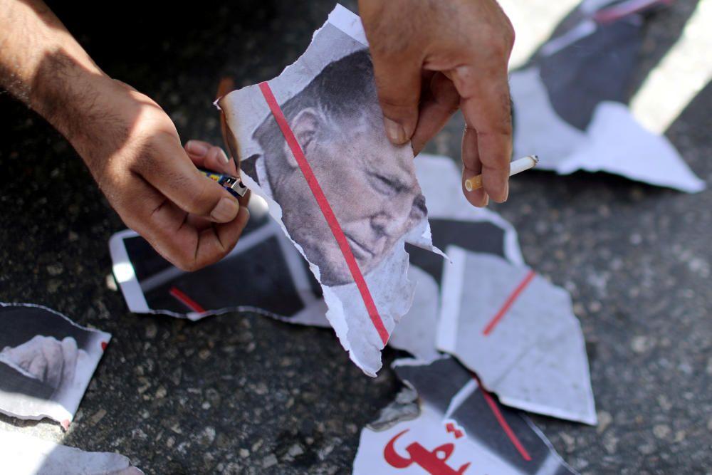 Palestinians protest against UAE-Israel deal