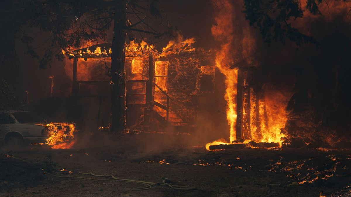 El incendio forestal en Greenville, California.