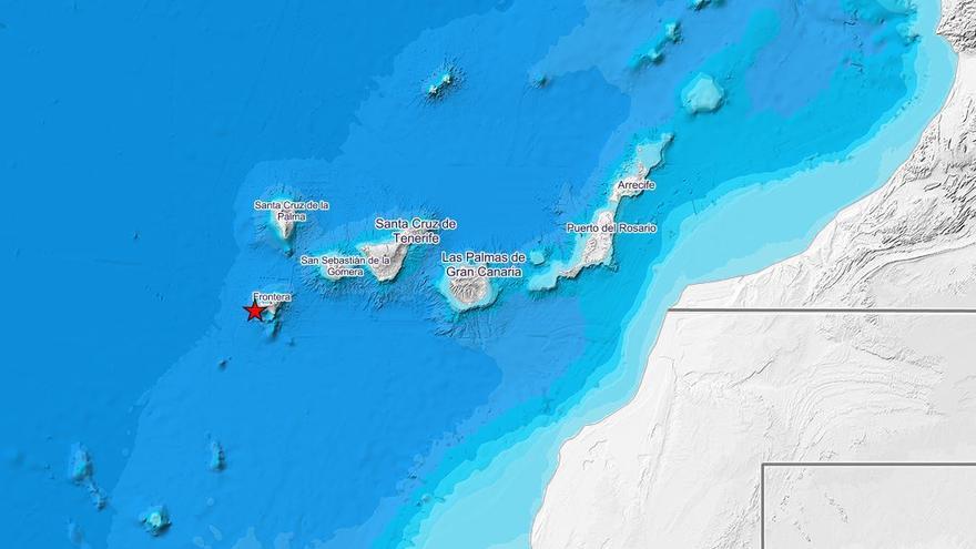 Localizados 8 terremotos al oeste de El Hierro en 12 minutos