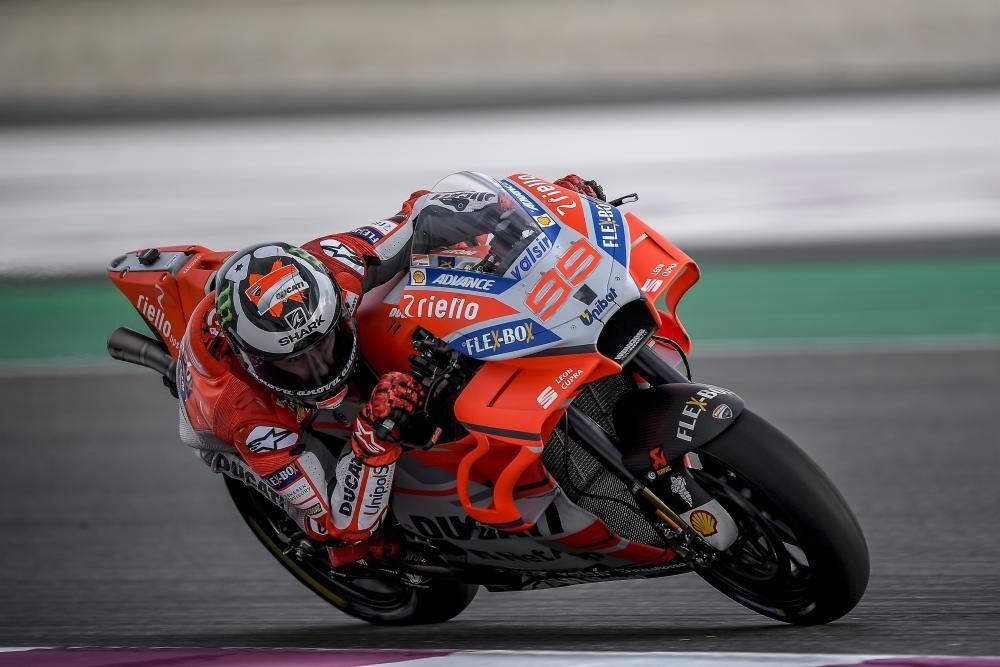 El piloto español Jorge Lorenzo en el test de ...