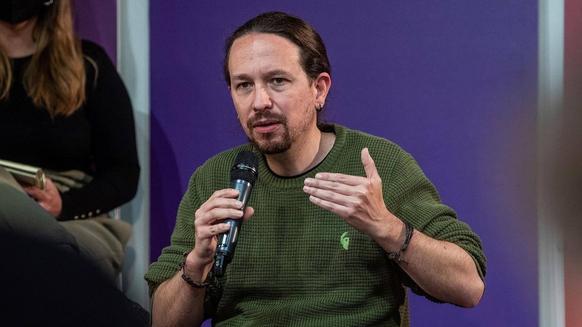 Pablo Iglesias presenta el programa de Podemos.