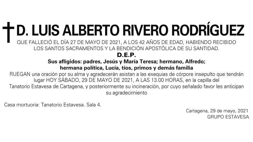 D. Luis Alberto Rivero Rodríguez