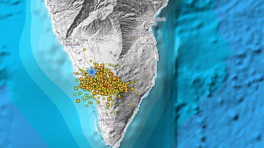 Los seísmos se acercan a la superficie de La Palma