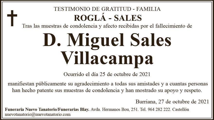 D. Miguel Sales Villacampa