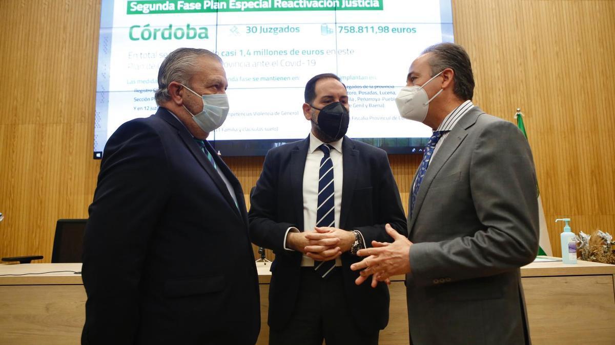 Carlos Rodríguez Sierra, Francisco Ontiveros y Ángel Pimentel.