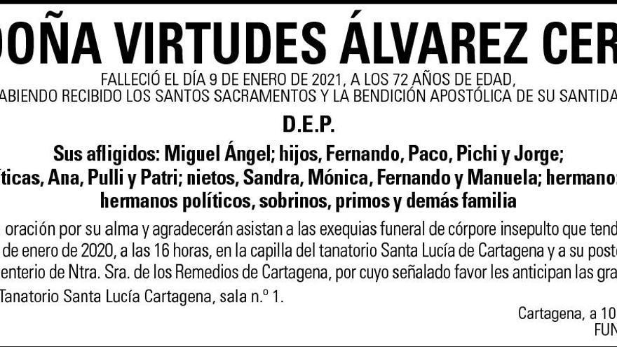 Dª Virtudes Álvarez Cerdá