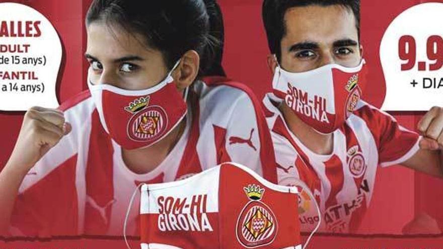 Aconsegueix amb Diari de Girona la mascareta oficial del Girona FC
